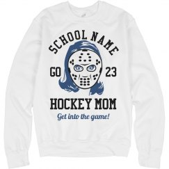 School Colors Hockey Mom With Custom Text
