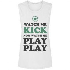 Cute Soccer Watch Me Kick