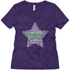 Ladies V-neck Star T-shirt