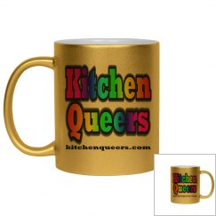 Kitchen Queers Pink Metallic Logo Mug