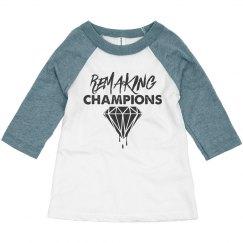 Unisex Toddler Remaking Champions 3/4 Sleeve