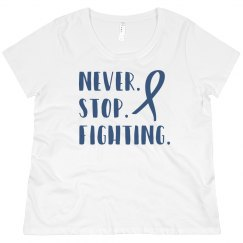Never stop fighting ALS plus size shirt.