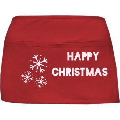 Happy Christmas Red Apron