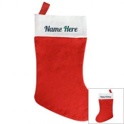 Happy Holidays Christmas Stocking