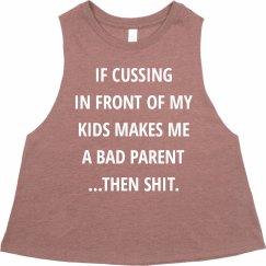 Bad Parent Funny Mom Racerback Tank