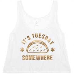 Metallic Taco Tuesday Crop