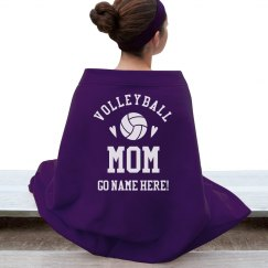 Custom Volleyball Mom Cheer Text