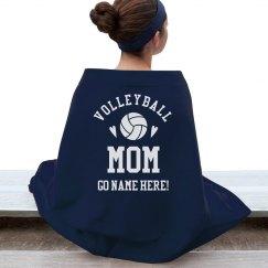 Custom Volleyball Mom Cheer Text
