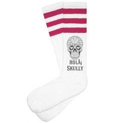 Holá Skully Stripe Socks