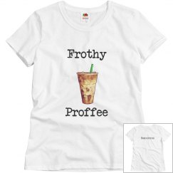 Relaxed fit frothy profee tee