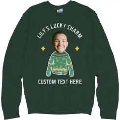 Name Here's Lucky Charm St. Patrick's Sweatshirt