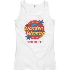 Custom Wonder Woman Emblem Tank