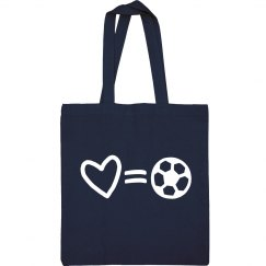 Love Is Soccer Sports Tote Bag