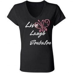 Live Laugh Scoop Neck T-Shirt