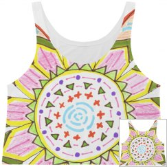 Hand Drawn Flower All-Over Print