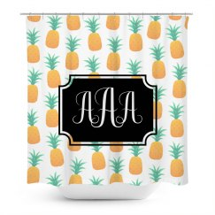 Custom Initials Shower Curtain