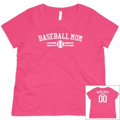 Custom Baseball Mom Name & Number