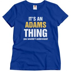 It's an adams thing
