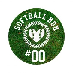 Custom Softball Mom Brag Badge