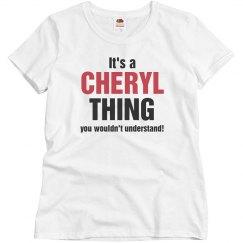 It's a Cheryl thing