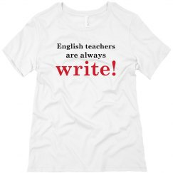 English Teachers Are Always Write