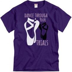 Purple tee w/dance shoes graphic