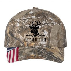 Her Buck Custom Matching Camo Hat