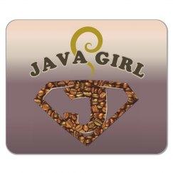 Java Girl Coffee Humor Mouse Pad