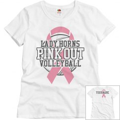 Pink Out Volley T-Shirt - Pink