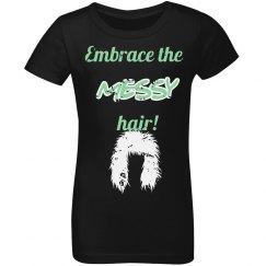 messy hair!