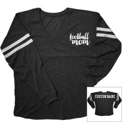 Football Mom Custom Name Backprint
