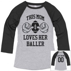 Football Mom Custom Name/Number