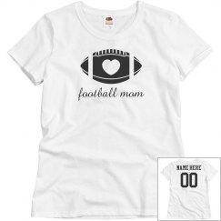 Script Football Mom Custom Back