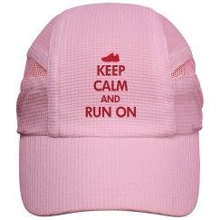 Keep Calm Run On Cap