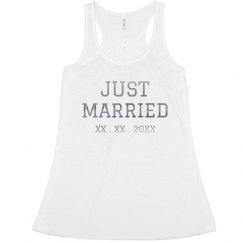 Just Married Custom Tank