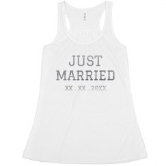 Just Married Custom Tank