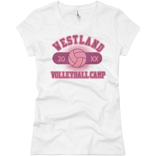 c7deaeefd Westland Volleyball Camp Ladies Slim Fit Basic Promo Jersey T-Shirt