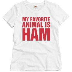 My favorite animal is ham
