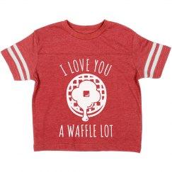 Cute Kids Love You Waffle Lot