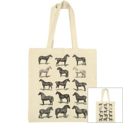 Tote Bag with Horses