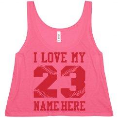 Cute Custom Baseball Girlfriend Crop Top Shirt