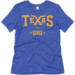 Texas for Pete - Royal Blue - Women's