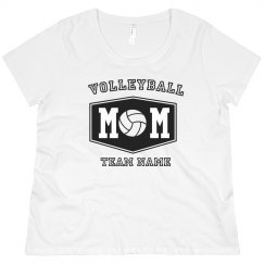 Custom Volleyball Mom Plus Tee