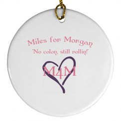Miles for Morgan Christmas Ornament