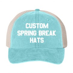 Custom Spring Break Vintage Trucker Hat