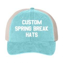 Cotton Twill Snapback Trucker Hat · Custom Spring Break Vintage Trucker Hat 0fa4494da276