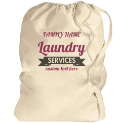 Custom Family Funny Laundry Service Bag