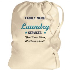 Custom Family Name Laundry Bag