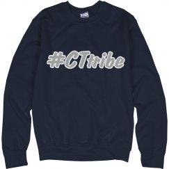 CT Tribe hashtag crewneck sweatshirt