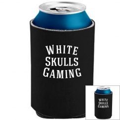 White Skulls Gaming Basic Koozie